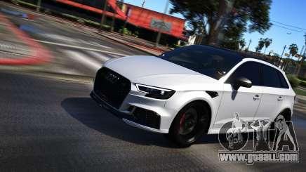 Audi RS3 Sportback 2018 for GTA 5