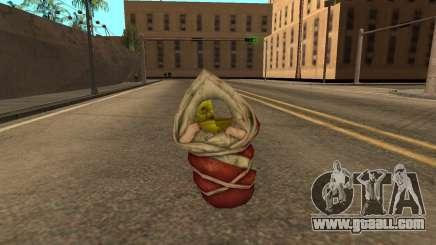 Flying baby Shrek semi-invisible for GTA San Andreas