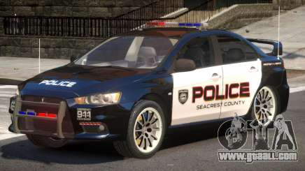 Mitsubishi Lancer X Police V1.0 for GTA 4