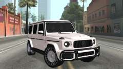 Mercedes-Benz G63 AMG White for GTA San Andreas