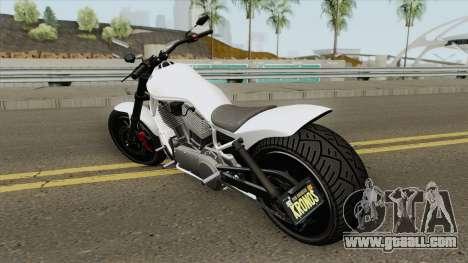 Western Motorcycle Nightblade (Stock) GTA V for GTA San Andreas