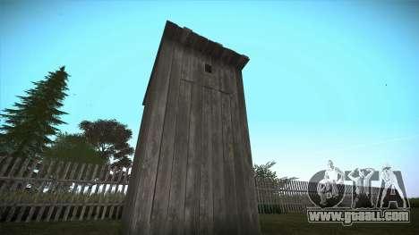 Rural toilet for GTA San Andreas for GTA San Andreas