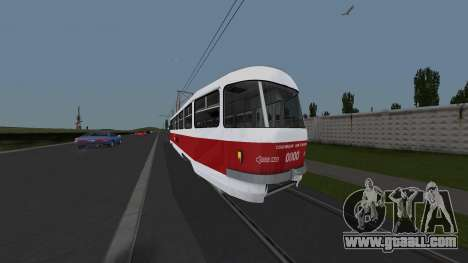 Tram Tatra T3SU Training for GTA San Andreas