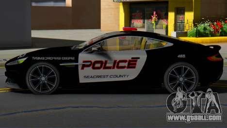 Aston Martin Vanquish Police Version (IVF) for GTA San Andreas