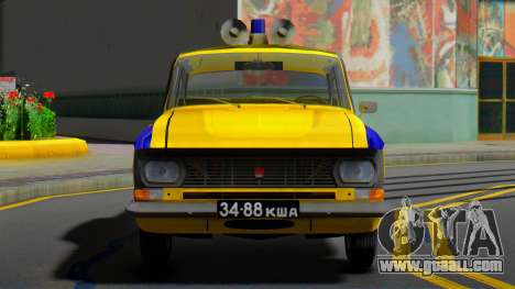 The Moskvitch 412 Police (GAI) of the USSR for GTA San Andreas