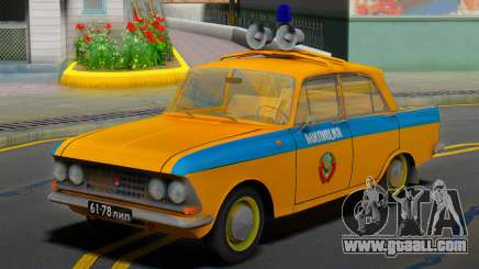 AZLK Moskvich 408 USSR Police for GTA San Andreas