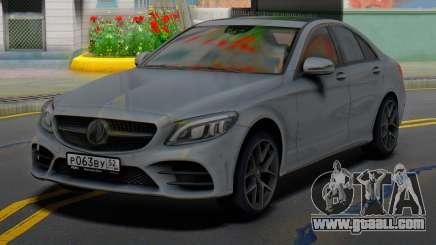 Mercedes-Benz C43 AMG Grey for GTA San Andreas