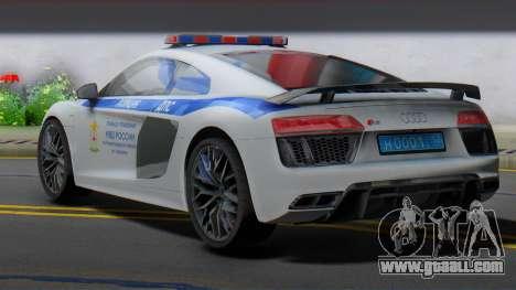Audi R8 2015 Police for GTA San Andreas