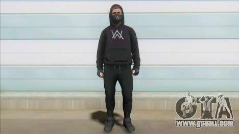 GTA Online Skin Ramdon Alan Walker V1 for GTA San Andreas