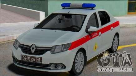 Renault Logan 2016 Russian Guard for GTA San Andreas