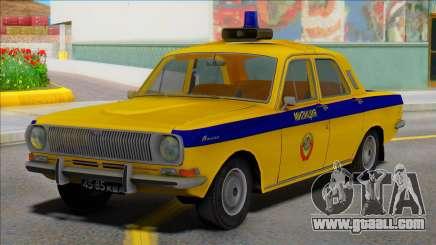 Gaz-24 Volga Police traffic police of the USSR for GTA San Andreas