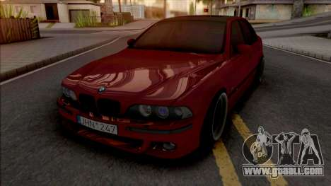 BMW M5 E39 Stanced Red for GTA San Andreas