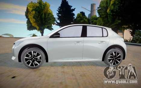 Peugeot 208 2020 (interior lowpoly) for GTA San Andreas