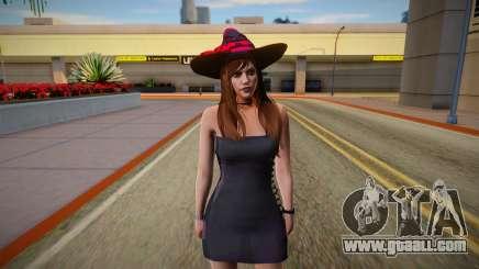 GTA Online Skin Ramdon Female Allian Dress Witch for GTA San Andreas