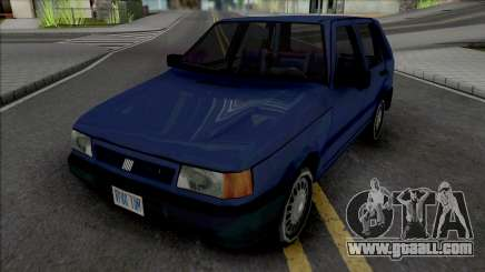 Fiat Uno 1995 Blue for GTA San Andreas