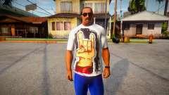 Rock Hand White T-Shirt for GTA San Andreas