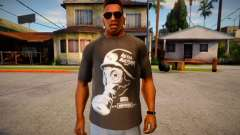 T-shirt with gas mask for GTA San Andreas