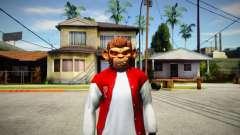 GTA V Space Monkey Mask for Cj for GTA San Andreas
