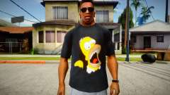 Homer Simpson T-Shirt for GTA San Andreas