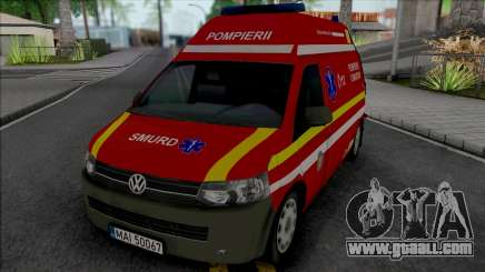 Volkswagen Transporter T5 Fire Brigade Ambulance for GTA San Andreas