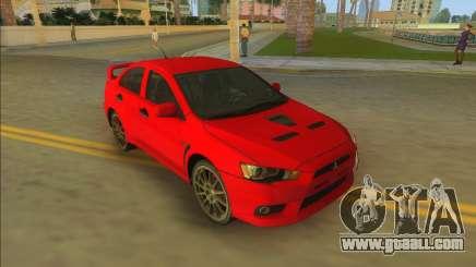 Mitsubishi Lancer Evolution X for GTA Vice City