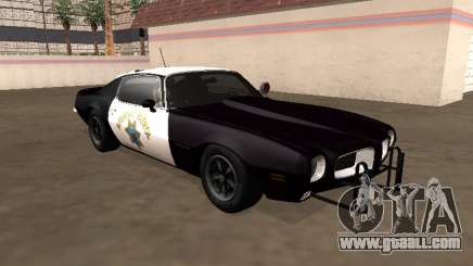 Pontiac Firebird 1970 California Highway Patrol for GTA San Andreas