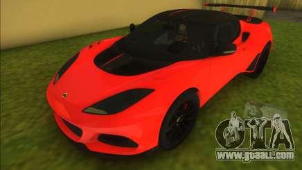 2018 Lotus Evora GT 430 for GTA Vice City