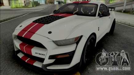 Ford Mustang Shelby GT500 2020 (SA Lights) for GTA San Andreas