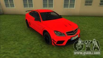 Mercedes-Benz C63 AMG Black Series 2012 for GTA Vice City