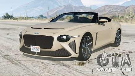 Bentley Mulliner Bacalar 2020〡add-on for GTA 5