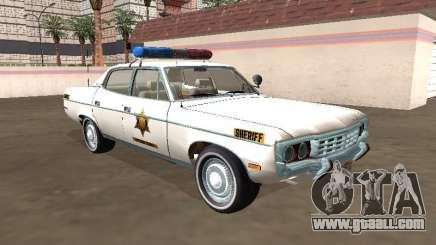 AMC Matador 1971 Hazzard County Sheriff for GTA San Andreas