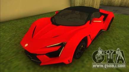 W-Motors Fenyr SuperSport for GTA Vice City