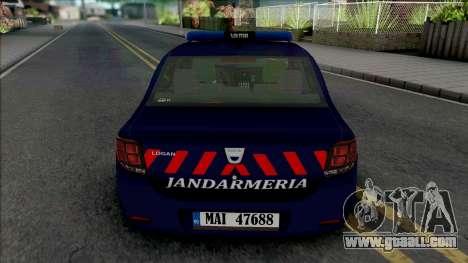 Dacia Logan 2018 Jandarmerie for GTA San Andreas