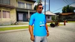 Blue t-shirt for GTA San Andreas
