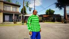 Green shirt for GTA San Andreas