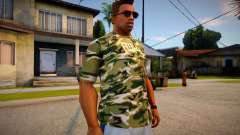 Camouflage T-shirt for GTA San Andreas