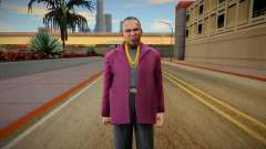Gangster in a crimson jacket for GTA San Andreas