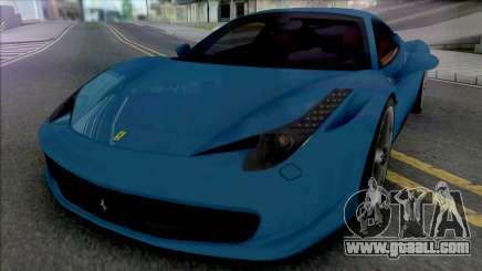 Ferrari 458 Italia [Fixed] for GTA San Andreas