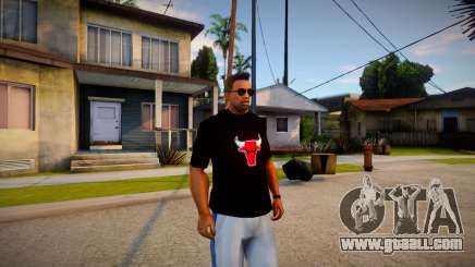 Chicago Bulls Shirt Black for GTA San Andreas