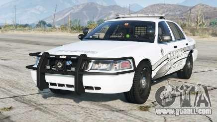 Ford Crown Victoria P71 Police Interceptor 2011〡Sheriff K-9 Unit [ELS]〡red & blue emergency lights for GTA 5