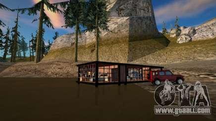Swamp cabin safehouse for GTA San Andreas