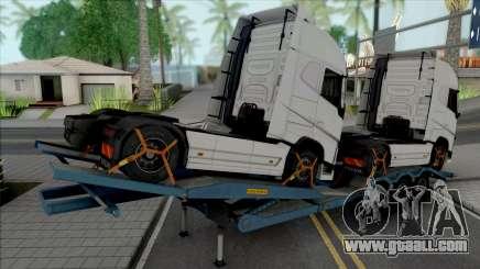 Transporter Cargo Truck Trailer for GTA San Andreas