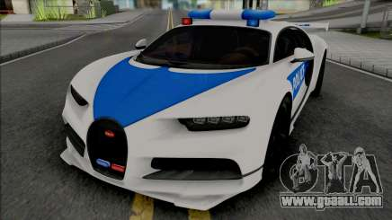 Bugatti Chiron Police for GTA San Andreas