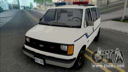 Chevy Astro 1988 Fort Carson Police Department for GTA San Andreas