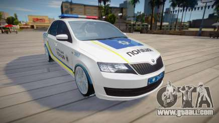 Skoda Rapid - Patrol Police of Ukraine for GTA San Andreas