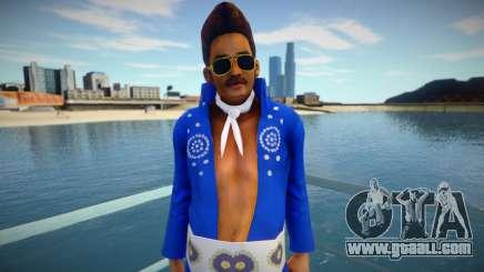 Blue Elvis vimyelv for GTA San Andreas