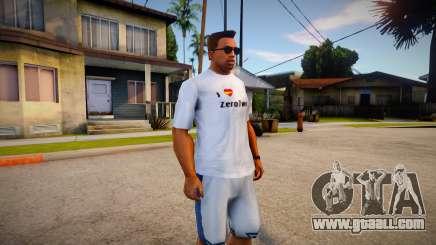 I Love Zerotwo Shirt For CJ Original for GTA San Andreas