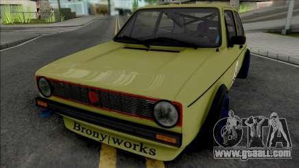 Volkswagen Golf MK1 Brony Works Race Car for GTA San Andreas