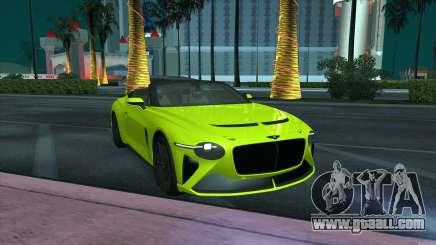 Bentley Mulliner Bacalar for GTA San Andreas