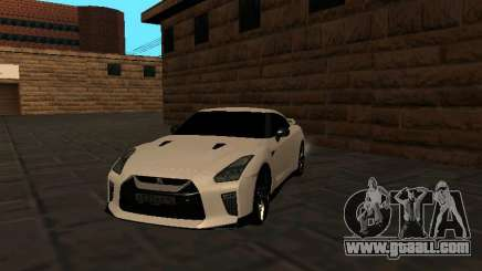 Nissan GT-R R35 White Body for GTA San Andreas